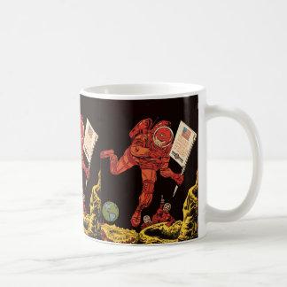 Vintage Science Fiction Sci Fi Astronaut on Moon Mugs