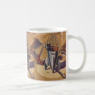 Vintage Science Fiction, Sci Fi, Building a Rocket Coffee Mug
