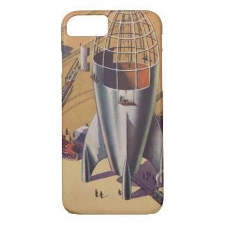Vintage Science Fiction, Sci Fi, Building a Rocket iPhone 8/7 Case