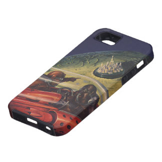 Vintage Science Fiction, Sci Fi City on the Moon iPhone SE/5/5s Case