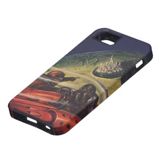 Vintage Science Fiction, Sci fi, Lunar Moon City iPhone 5 Cover
