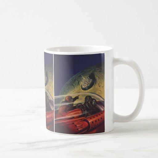Vintage Science Fiction, Sci fi, Lunar Moon City Coffee Mugs