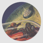 Vintage Science Fiction, Sci fi, Lunar Moon City Stickers