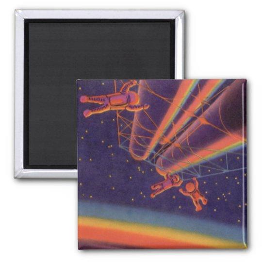 Vintage Science Fiction, Sci Fi Rainbow Astronauts Magnet