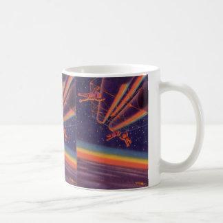 Vintage Science Fiction Sci Fi Rainbow Spacewalk Coffee Mug