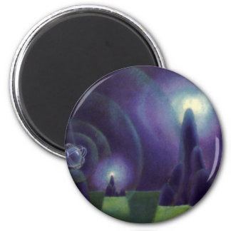 Vintage Science Fiction, Sci Fi, Space Planet 2 Inch Round Magnet