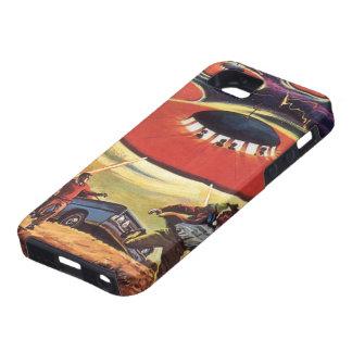Vintage Science Fiction, Sci Fi UFO Alien Invasion iPhone SE/5/5s Case