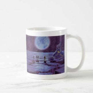 Vintage Science Fiction, SciFi Alien Lunar Landing Mug