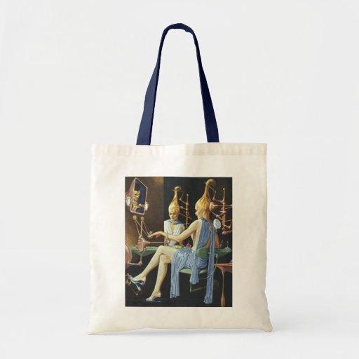 Vintage Science Fiction Spa Beauty Salon Manicures Bag