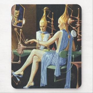 Vintage Science Fiction Spa Beauty Salon Manicures Mouse Pad