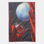 Vintage Science Fiction Space Moon Rover Kitchen Towels
