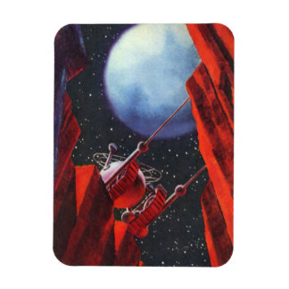 Vintage Science Fiction Space Moon Rover Rectangular Photo Magnet