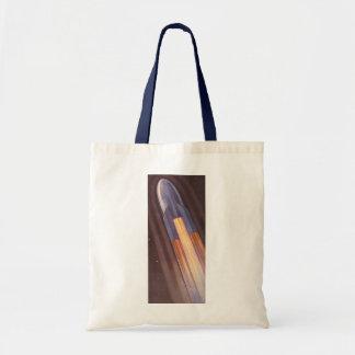 Vintage Science Fiction Space Ship Rockets Tote Bag