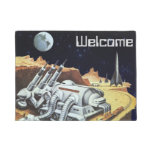 Vintage Science Fiction, Space Station on the Moon Doormat
