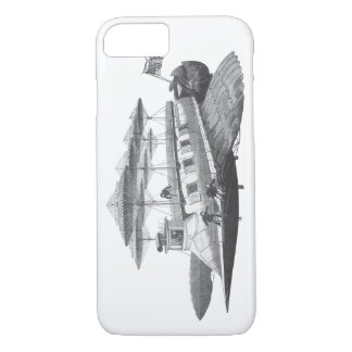 Vintage Science Fiction Steampunk Airship Eclipse iPhone 7 Case