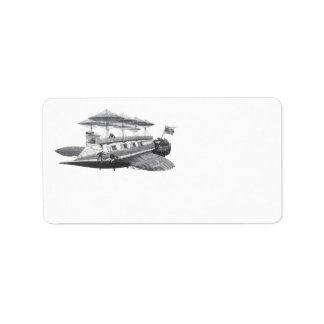 Vintage Science Fiction Steampunk Airship Eclipse Personalized Address Labels