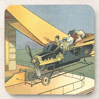 Vintage Science Fiction Steampunk Convertible Car Coaster