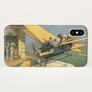 Vintage Science Fiction Steampunk Convertible Car iPhone X Case