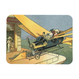 Vintage Science Fiction Steampunk Convertible Car Flexible Magnets