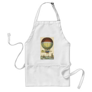 Vintage Science Fiction Steampunk Hot Air Balloon Adult Apron