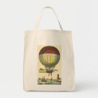 Vintage Science Fiction Steampunk Hot Air Balloon Tote Bag