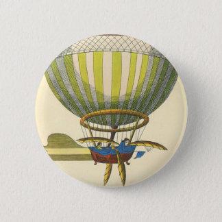 Vintage Science Fiction Steampunk Hot Air Balloon Button