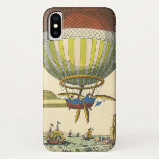 Vintage Science Fiction Steampunk Hot Air Balloon iPhone X Case
