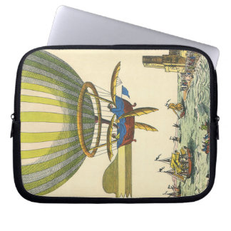 Vintage Science Fiction Steampunk Hot Air Balloon Laptop Sleeve