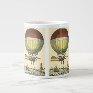 Vintage Science Fiction Steampunk Hot Air Balloon Large Coffee Mug