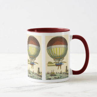 Vintage Science Fiction Steampunk Hot Air Balloon Mug