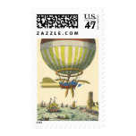 Vintage Science Fiction Steampunk Hot Air Balloon Postage