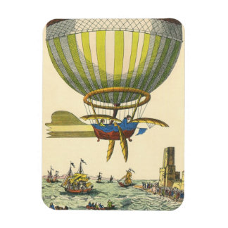 Vintage Science Fiction Steampunk Hot Air Balloon Rectangular Photo Magnet