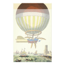 Vintage Science Fiction Steampunk Hot Air Balloon Stationery