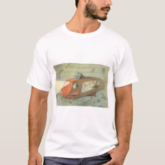 Vintage Science Fiction Steampunk Submarine in Sea T-Shirt