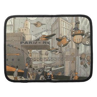 Vintage Science Fiction Steampunk Urban Paris Planner