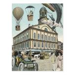 Vintage Science Fiction, Steampunk Victorian City Postcards