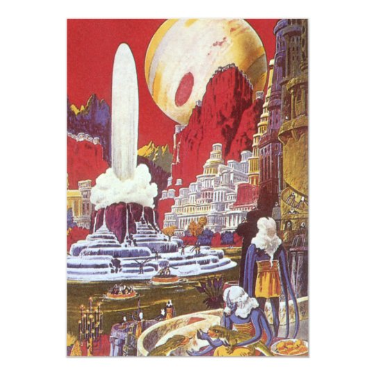 Vintage Science Fiction, the Lost City of Atlantis Card
