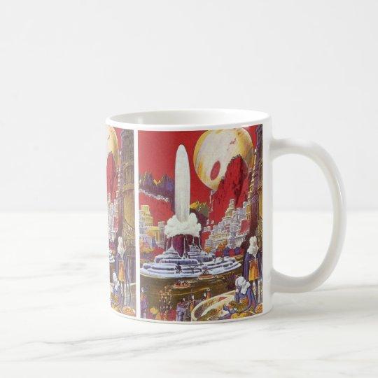 Vintage Science Fiction, the Lost City of Atlantis Coffee Mug