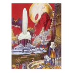 Vintage Science Fiction, the Lost City of Atlantis Postcard