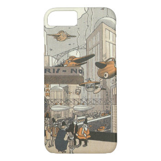 Vintage Science Fiction Urban Paris, Steam Punk iPhone 8/7 Case