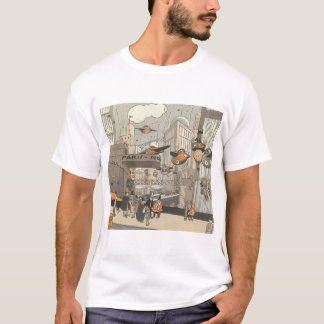 Vintage Science Fiction Urban Paris, Steam Punk T-Shirt