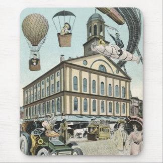 Vintage Science Fiction, Victorian Steam Punk City Mouse Pad