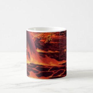 Vintage Science Fiction Volcano Planet w Red Lava Coffee Mug