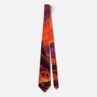 Vintage Science Fiction Volcano Planet w Red Lava Tie