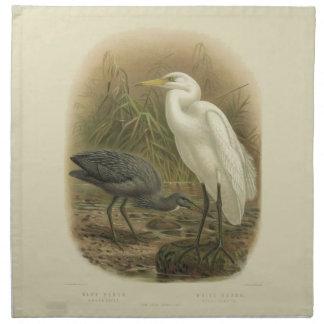 Vintage Science NZ Birds - NZ Herons Cloth Napkins