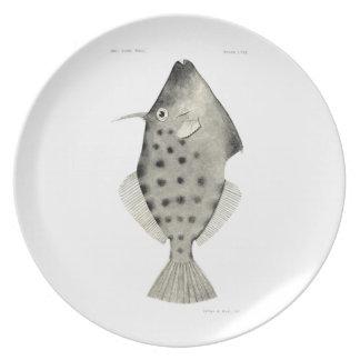 Vintage Science NZ Fish - Smooth Leatherjacket Melamine Plate