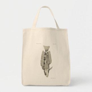 Vintage Science NZ Fish - Yellow Weaver Tote Bag
