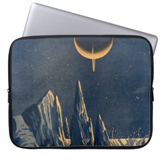 Vintage Scientific American Mountains Moon Scenery Computer Sleeve