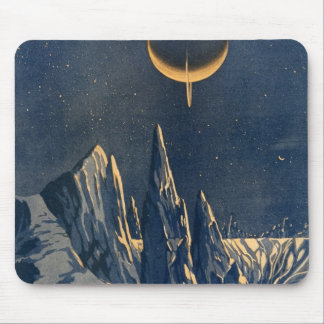 Vintage Scientific American Mountains Moon Scenery Mouse Pad