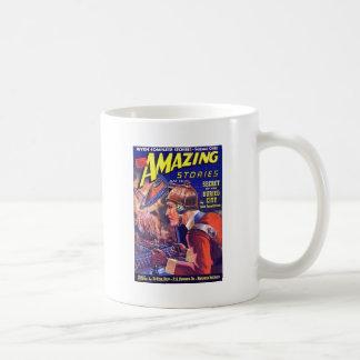 Vintage SciFi Comic Astounding Stories Buried City Coffee Mug